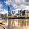 Down Town Melbourne - Yara River in the foreground