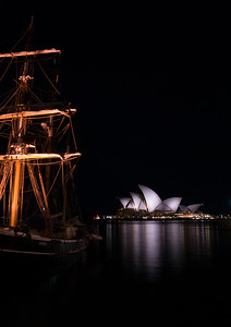 tall ship and opera, sydney harbor