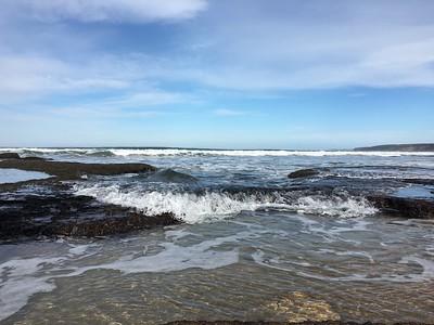 Incoming tide, Back Beach, Torquay, Victoria