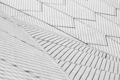 abstract section of a tiled roof, sydney opera