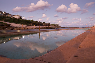 ocean pool and clouds