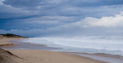 beach after the hurricane