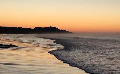Warm sea, cold air, Whites Beach, Torquay, Victoria