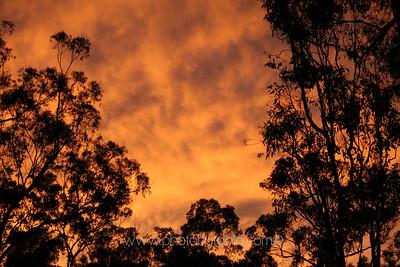 Evening storm gathers. Brisbane, Australia.
