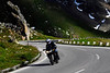 Motorcycle on curved road - Grossglockner Pass, Austria