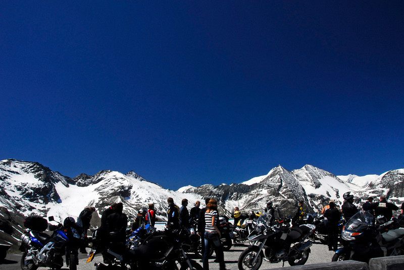 Motorcyclists at Biker's Nest - Grossglockner Pass, Austria