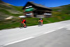 Bicyclists on Grossglockner Pass, Austria