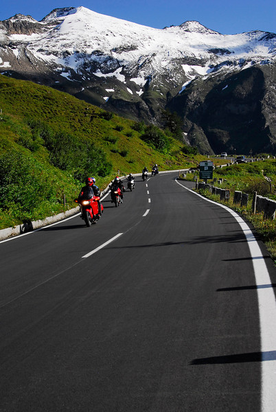 Motorcycles on Grossglockner Pass, Austria