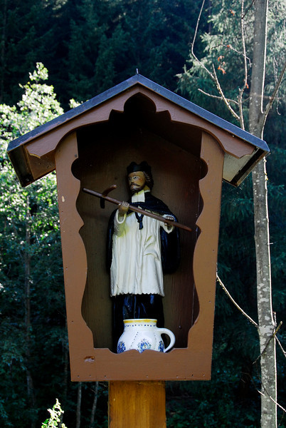 Religious figure near pasture - Gries, Austria
