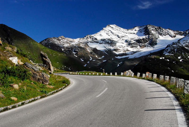 Curved road - Grossglockner Pass, Austria