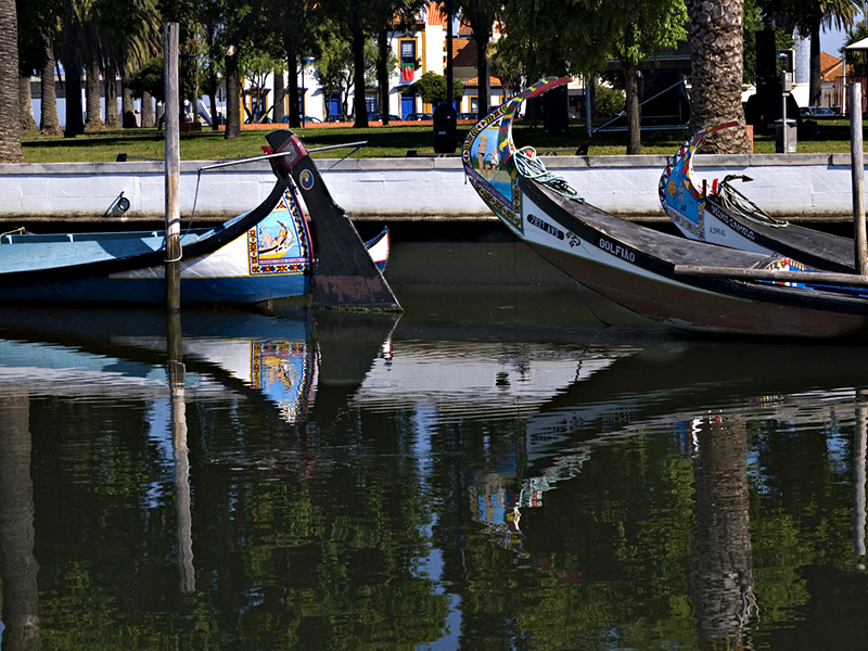 Moliceiros - Aveiro, Canal Central Local boats used in the Aveiro Lagoon