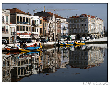 Mercantéis e Moliceiros no Canal Central da Ria de Aveiro