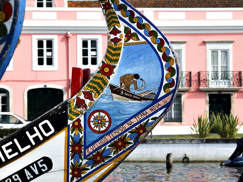 Proa de Moliceiro - Aveiro, Canal Central Decoration on the bow of a lagoon boat