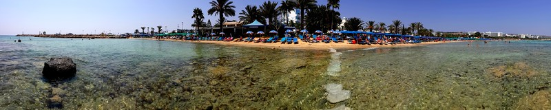 Beach panorama in Ayia Napa