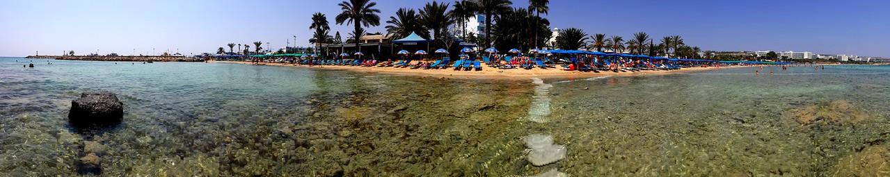 Beach panorama in Ayia Napa