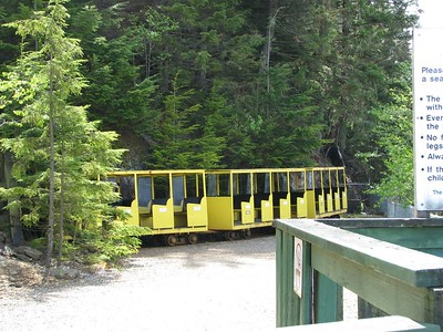 Tour Train  This is the electric train that takes tourists on a short trip through the mine