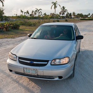 Eleuthera Bahamas rental car for one week - $420 cash.  Credit cards not accepted.