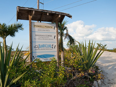 Signs at Point Powell, Cape Eleuthera Resort and Marina.