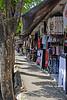 Sidewalk shops at Kuta
