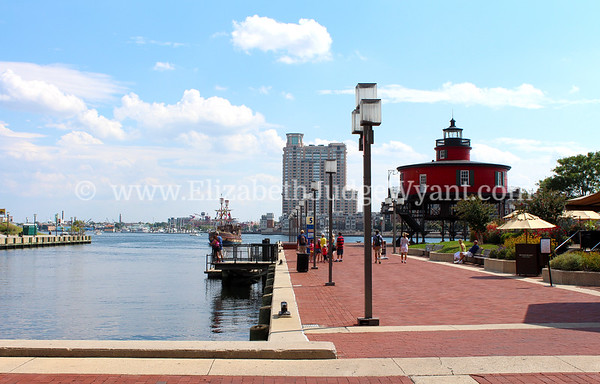 Seven Foot Knoll Lighthouse, Inner Harbor, Baltimore, MD