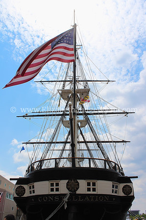 USS Constellation, constructed in 1854, is a sloop-of-war and the second United States Navy ship to carry the name.  Inner Harbor, Baltimore, MD