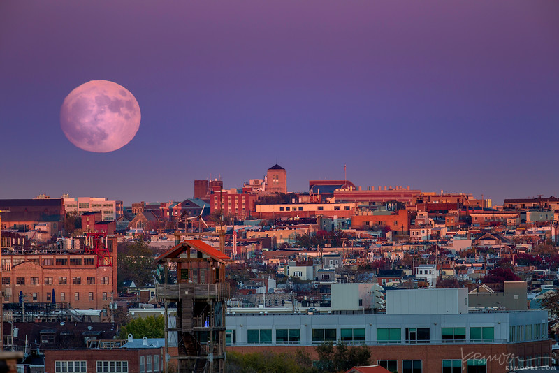 Super Moon over Baltimore.