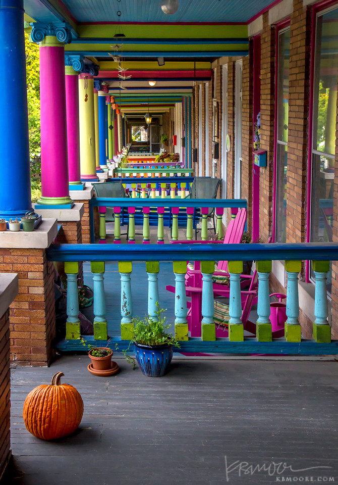 Colorful Porches in Baltimore
