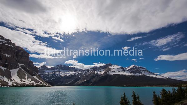 Sky Drama and Glacier
