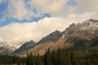 The Rocky Mountains near Banff Alberta in the Autumn
