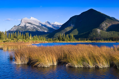 Rundle Mountain and Vermilion Lakes, Banff National Park