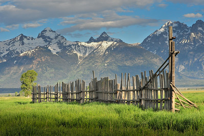 Dividing Line - between the prairie and the Tetons
