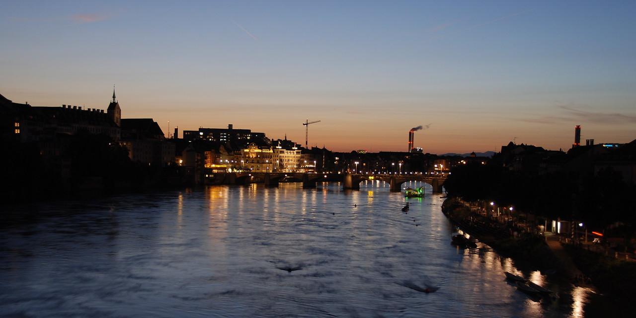 View from Wettstein bridge