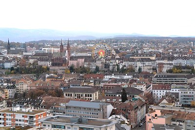 View from the Freefall Tower at Messeplatz