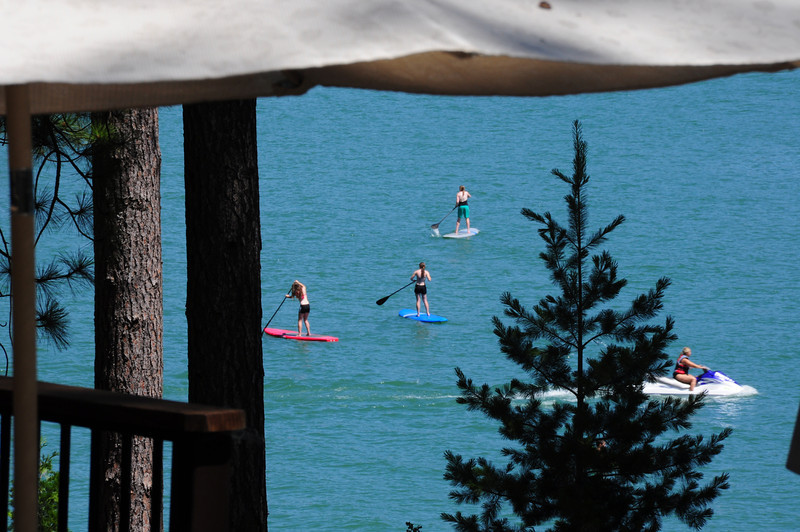 Renae, Nicole and Abby on Paddle Boards