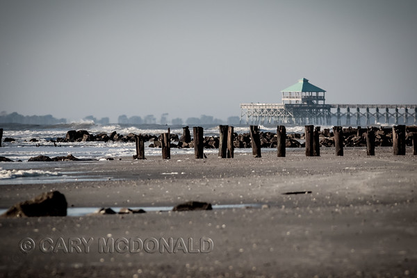 Folly Beach pier from a distance