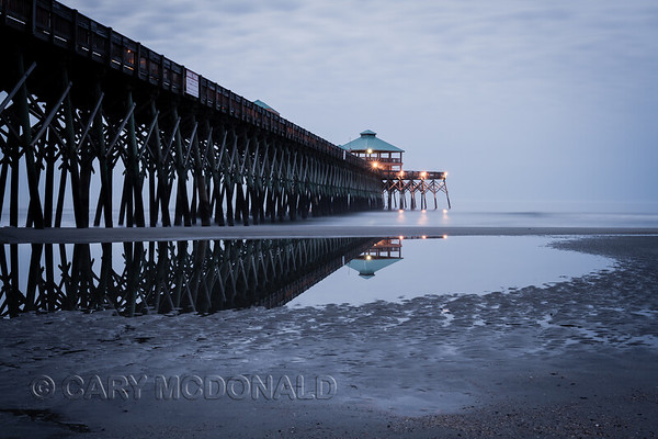 Folly Beach Pier before the sun comes up!