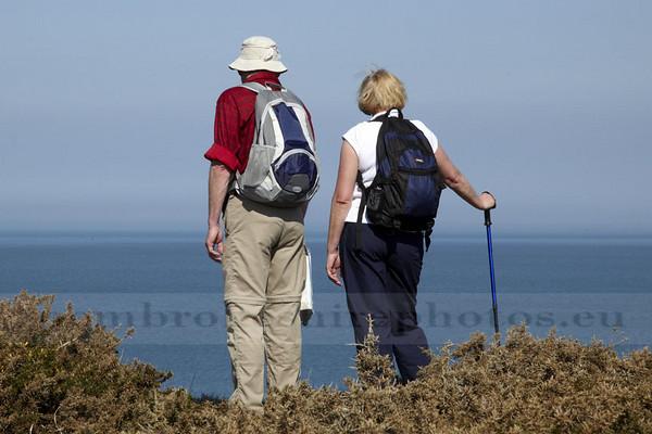 Walkers near Porthgain.