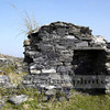 Industrial ruins at Abereiddi,old slate quarry.