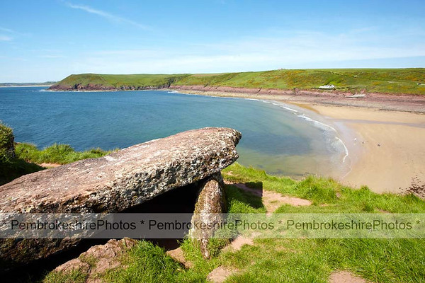 Devil's Quoit, overlooking Manorbier Beach