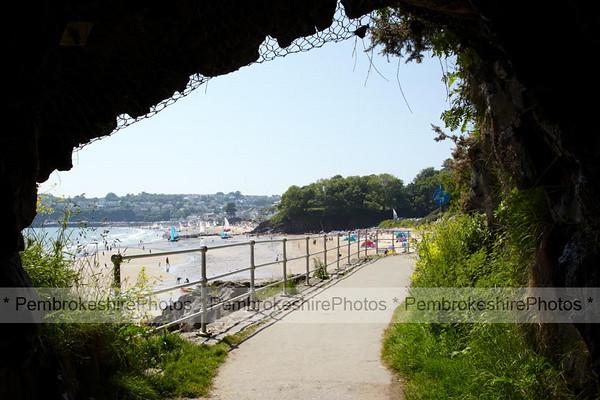 Exiting tunnel between Wisemans Bridge and Coppet Hall beach, Saundersfoot