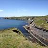 Cambrian sandstone rock formation near Caerbwdy, near Caerfai.