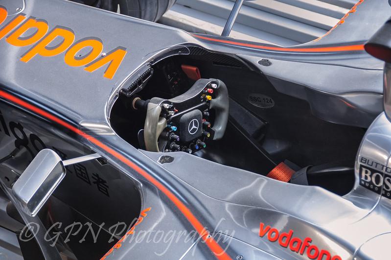 Cockpit of the McLaren F1