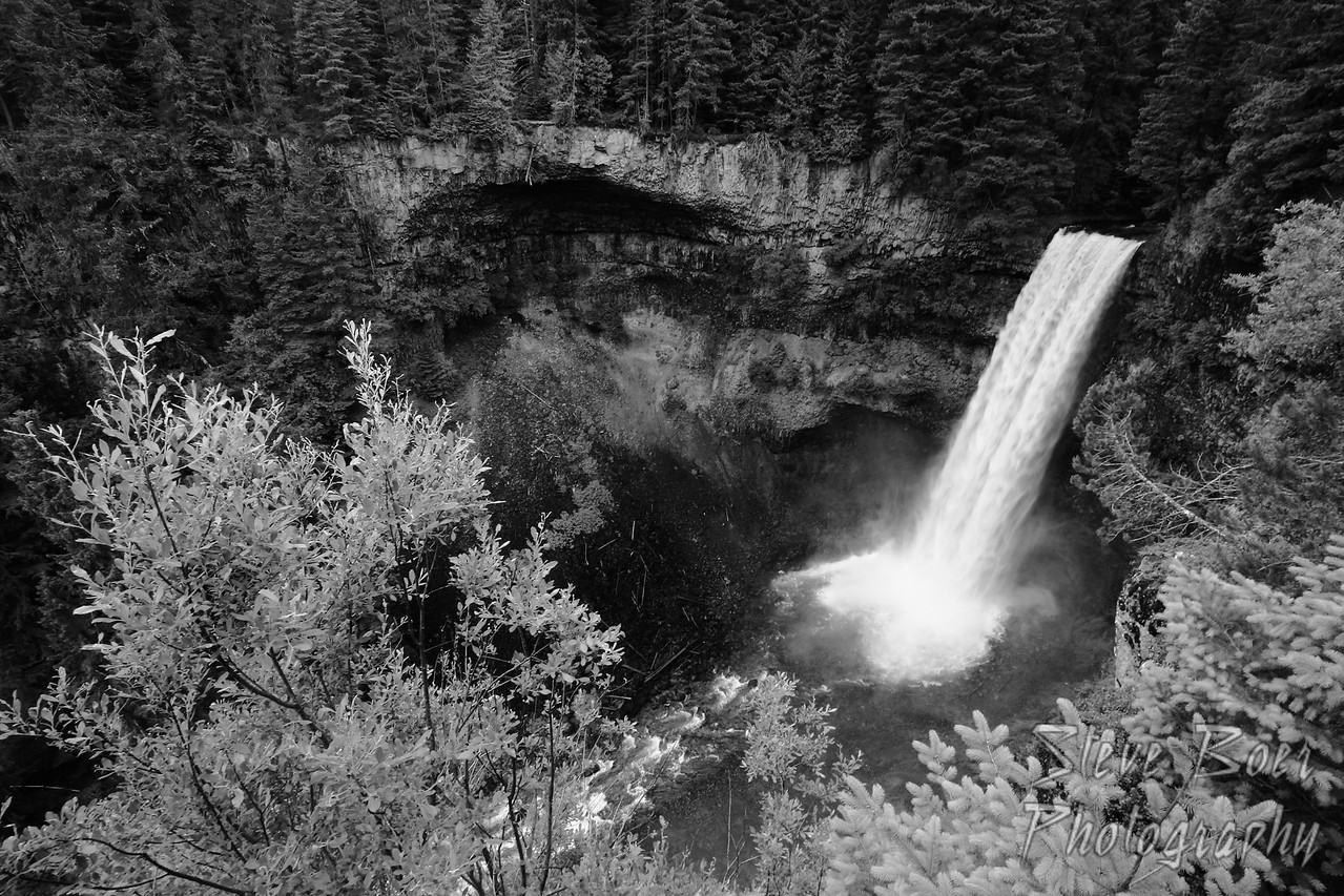 Brandywine Falls, BC in black and white