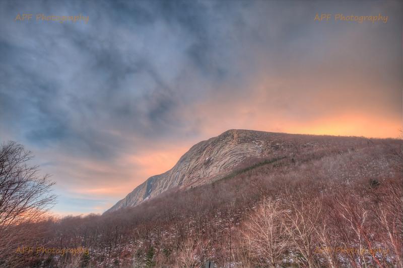 Sunrise over Cannon Mountain - Franconia Notch, White Mountains, New Hampshire
