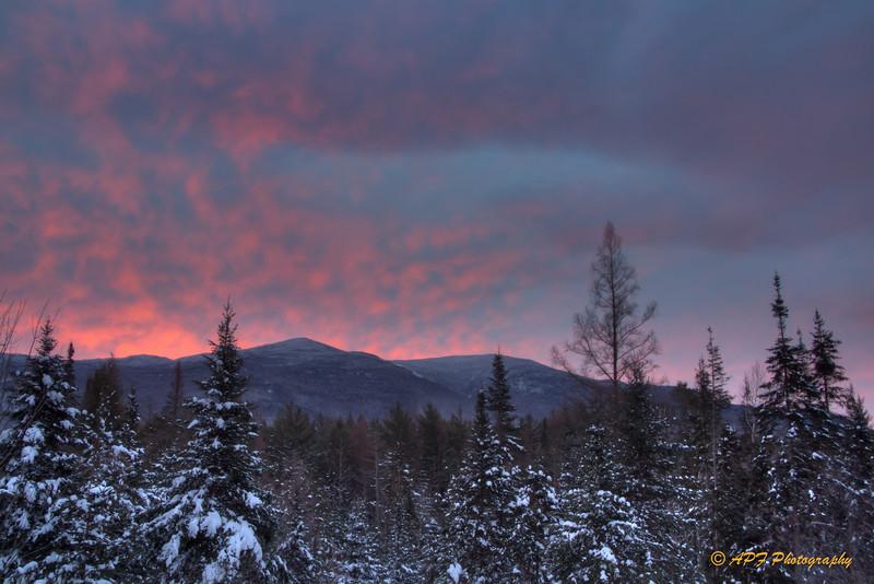 Sunrise over Kinsman.