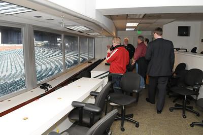 The press box at AT&T Park