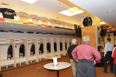 Visitors' locker room at AT&T Park