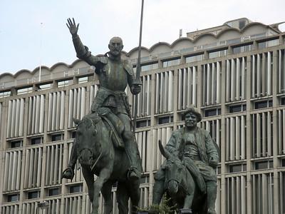 The merry men from de la Mancha arriving in Brussels