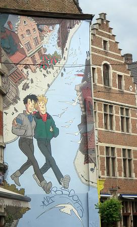 Brussels BD mural