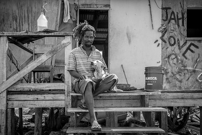Belize - Man with dog